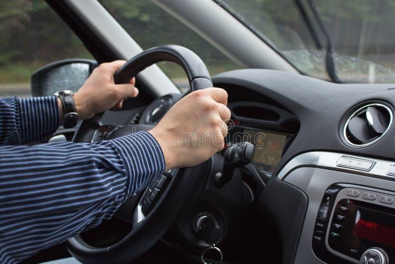 w copyspace samochodowy w jeździe widok zdjęcie royalty free