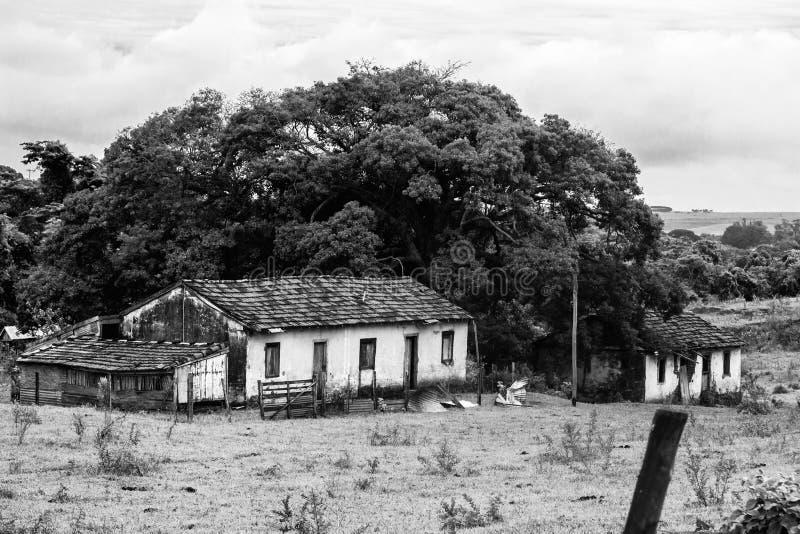 W czasach żniwa dom żył mnóstwo ludzi fotografia stock