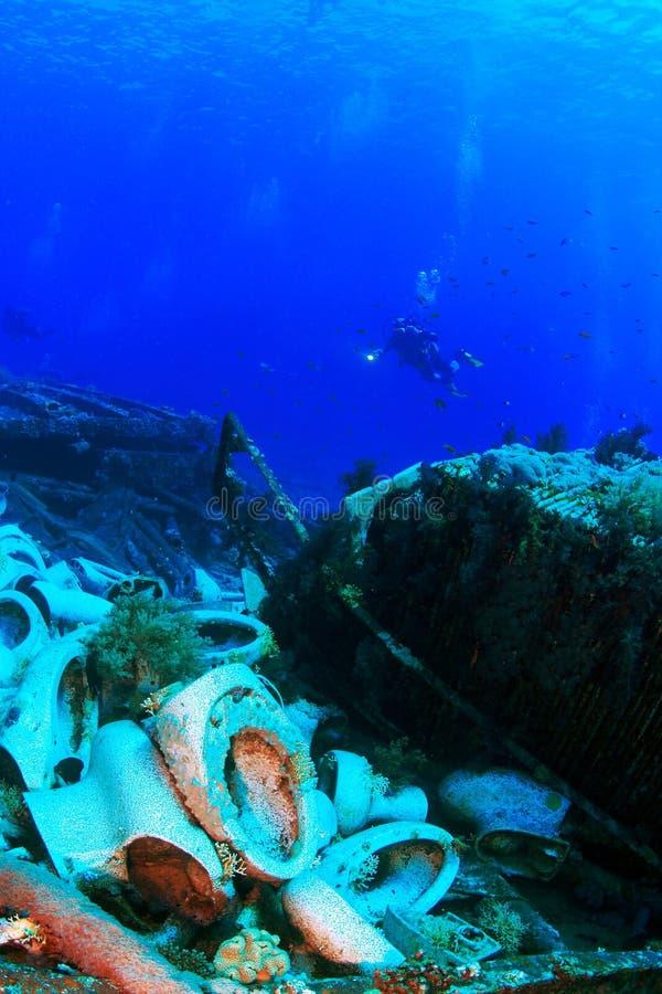 W Czerwonym Morzu wrak zdjęcie royalty free