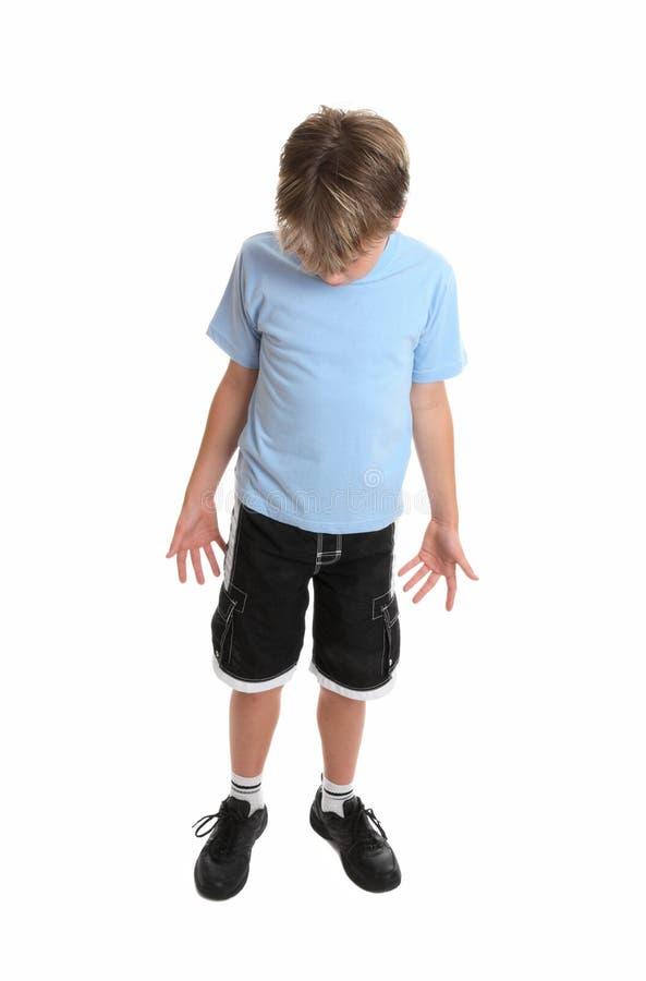w dół na chłopca zdjęcie royalty free