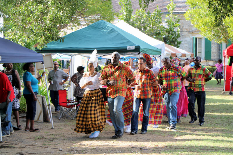 W.D.Y. Cultural Dancers voert quadrilledansen uit royalty-vrije stock foto