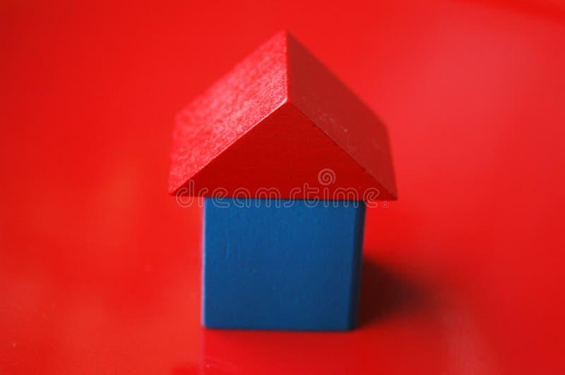 w domu drewnianego bloku zdjęcie royalty free