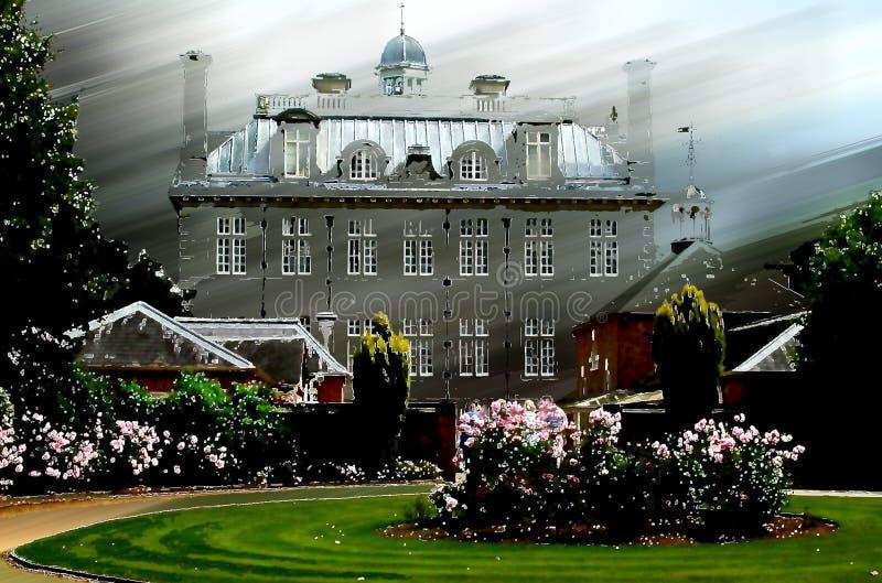 w domu manor posiadłości starego ilustracji