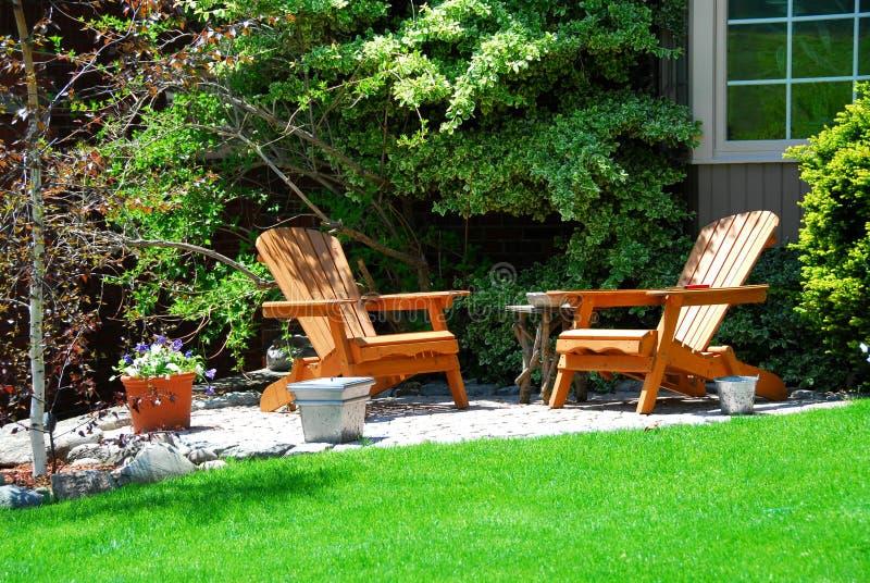 w domu patio zdjęcie stock