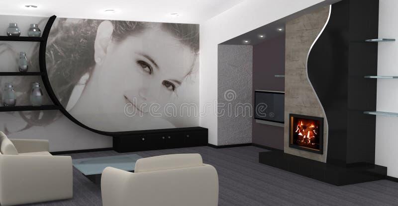 w domu projektu wnętrze obraz royalty free