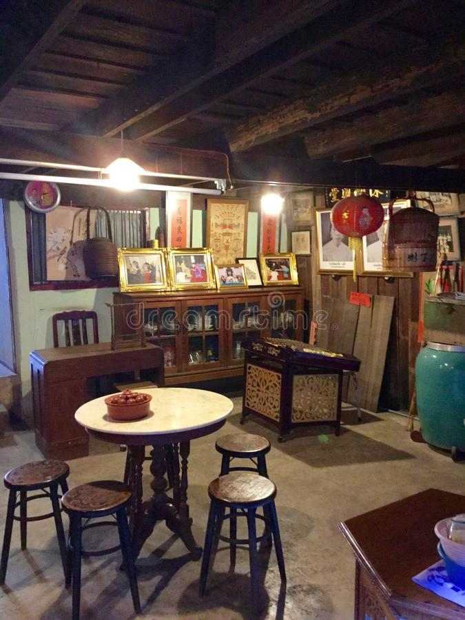 w domu starego chińskiego fotografia royalty free