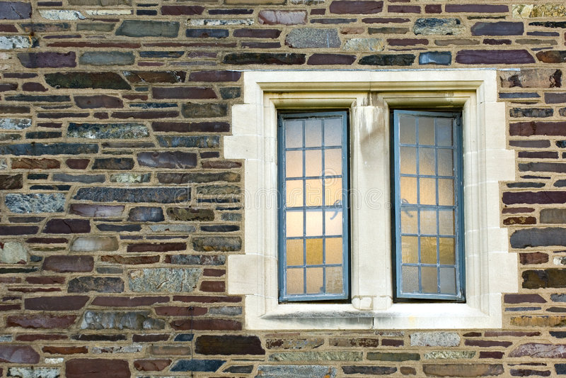 w domu stone okno obraz royalty free