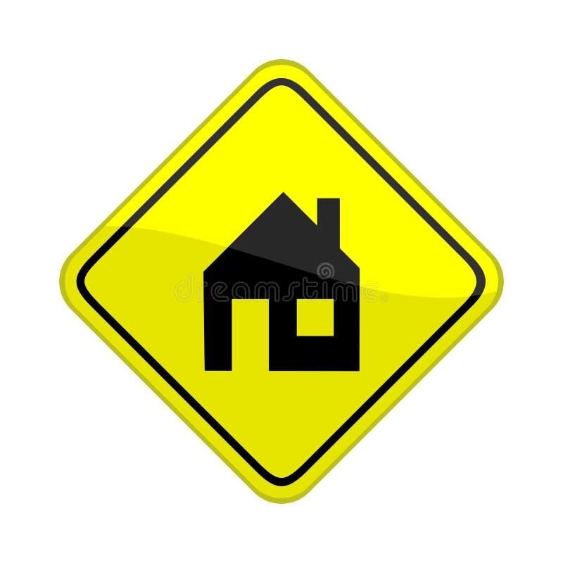 w domu znak ilustracji