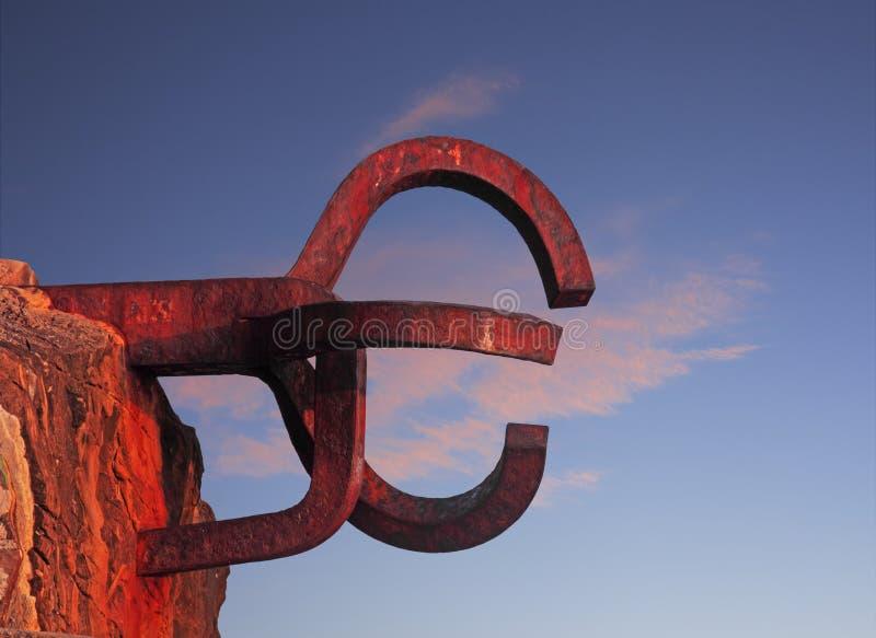 W Donostia Peine rzeźba Del Viento. obraz royalty free