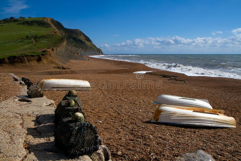 W Dorset Seatown plaża obrazy stock