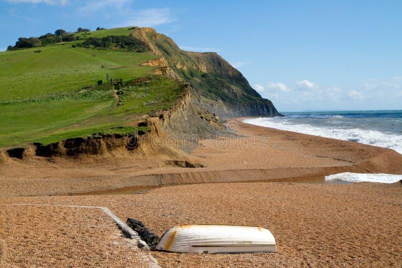 W Dorset Seatown plaża obrazy royalty free
