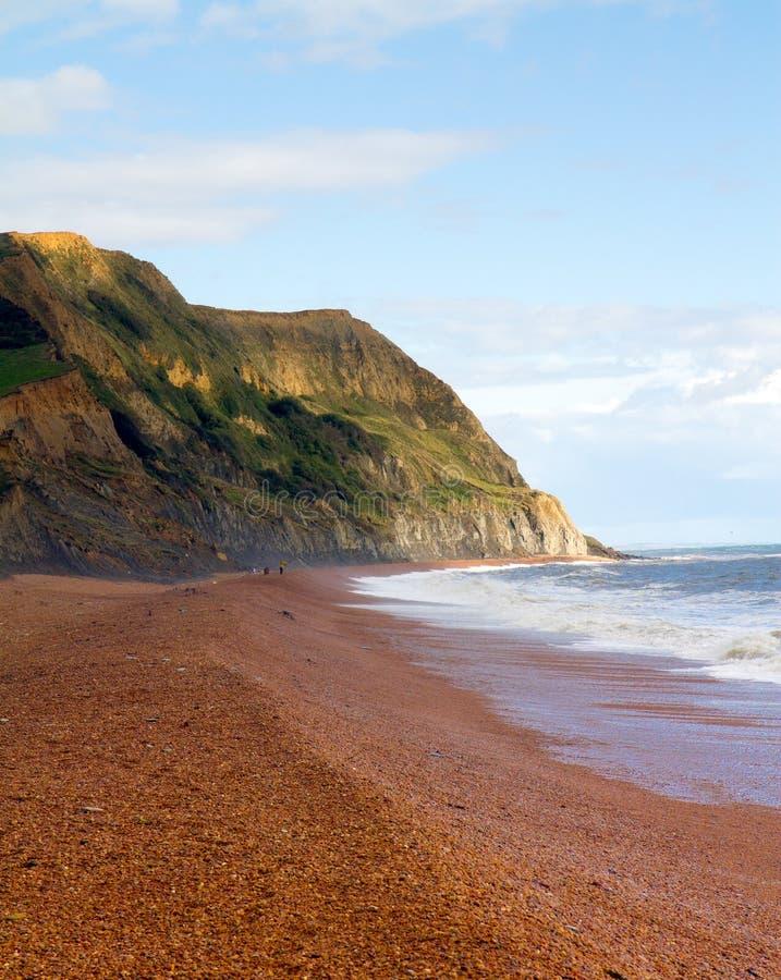 W Dorset Seatown plaża obraz stock
