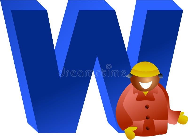 W está para stock de ilustración
