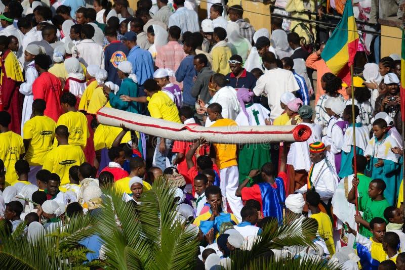 W Etiopia Timkat świętowanie fotografia royalty free