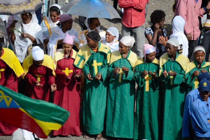 W Etiopia Timkat świętowanie zdjęcie royalty free