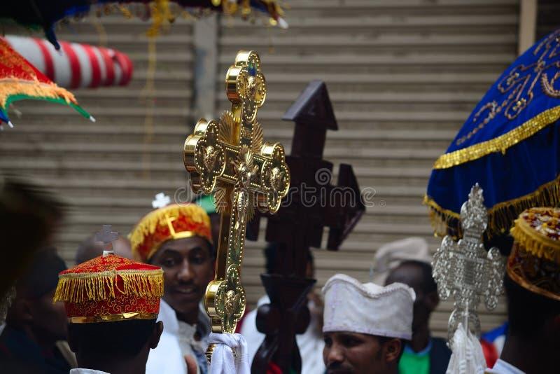 W Etiopia Timkat świętowanie fotografia stock