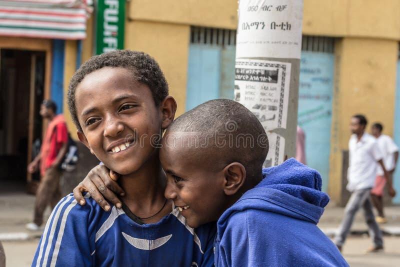 W Etiopia Timkat świętowanie obrazy stock