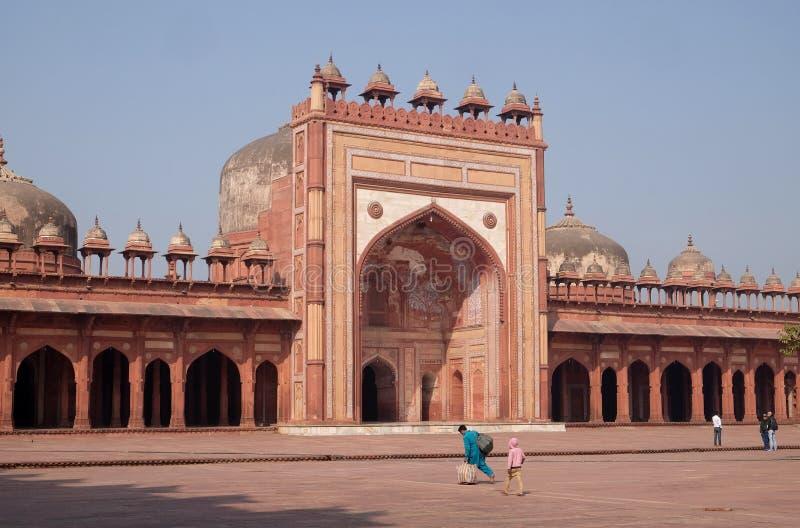 W Fatehpur Jama Meczet Masjid Sikri fotografia stock