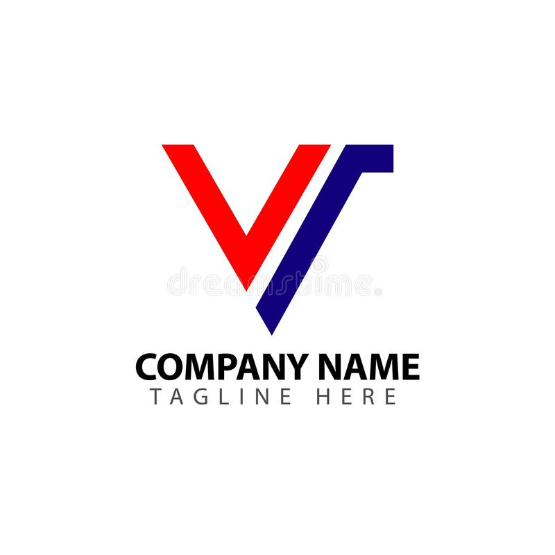 W Firma logo szablonu projekta Wektorowa ilustracja ilustracji