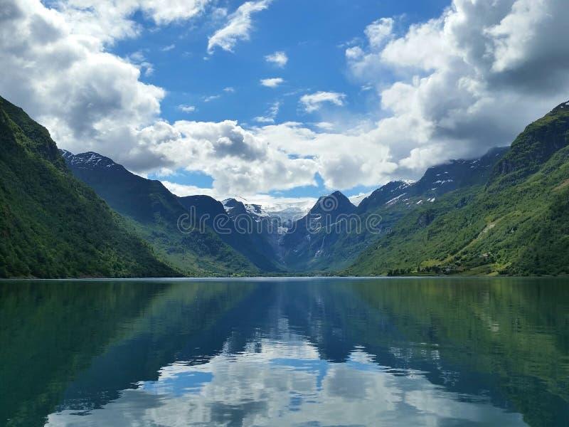 W fjords fotografia stock