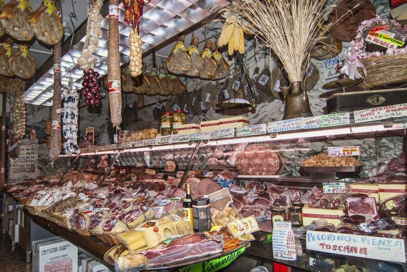 W Florencja mięso Rynek Włochy zdjęcie stock