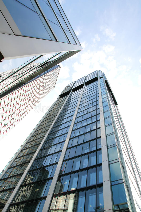 W Frankfurt nowożytna Architektura magistrala - Am - fotografia royalty free