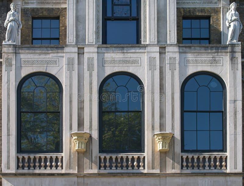 W górę fasady Sir John Soan's Muzeum zdjęcia royalty free