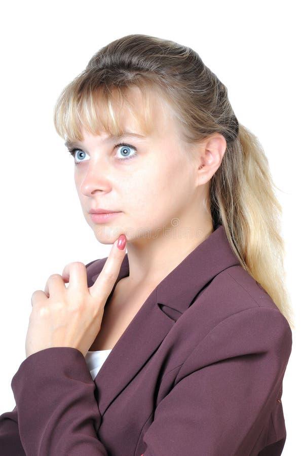 w górę kobiety atrakcyjny przyglądający główkowanie obrazy stock