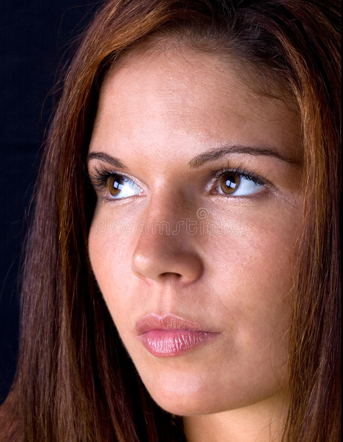 w górę kobiety piękna zamknięta twarz s zdjęcia stock