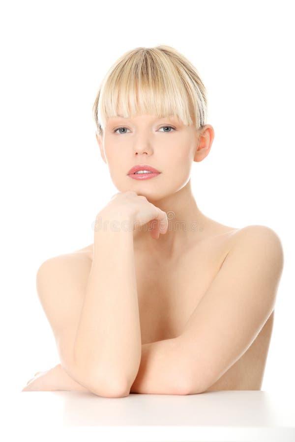 w górę kobiety piękny zamknięty portret zdjęcia royalty free