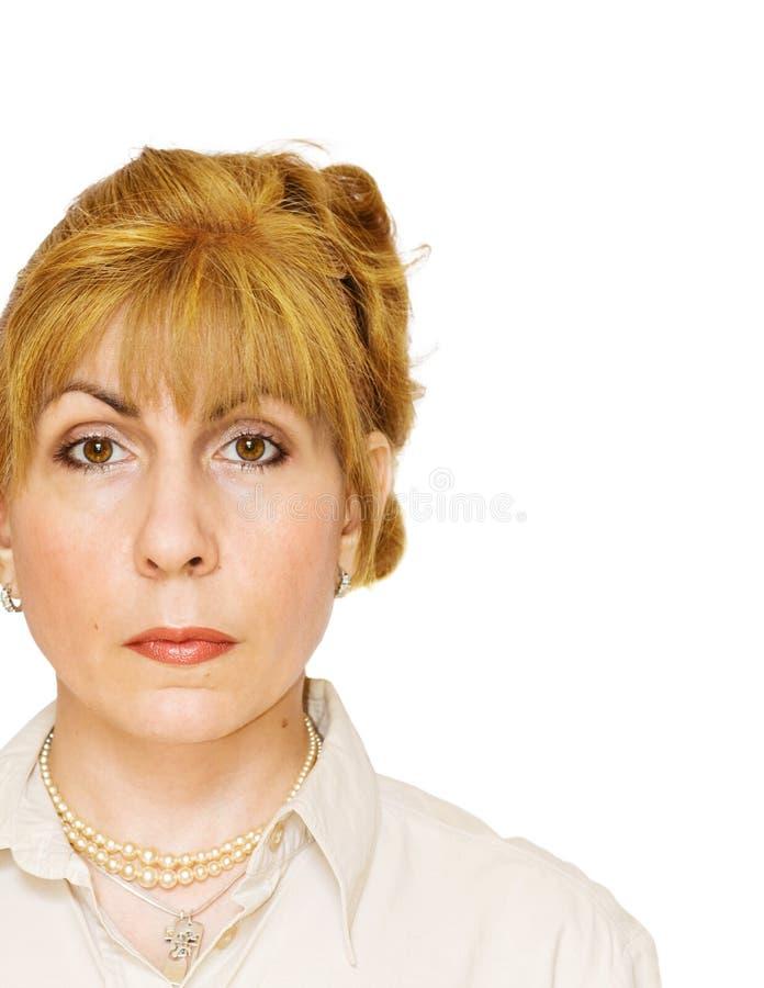 w górę kobiety zamknięty dorosłego portret fotografia stock