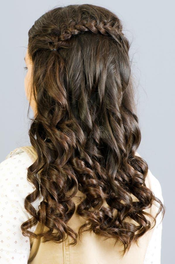 W Górę Kobiety Zamknięty Włosy Zdjęcie Stock