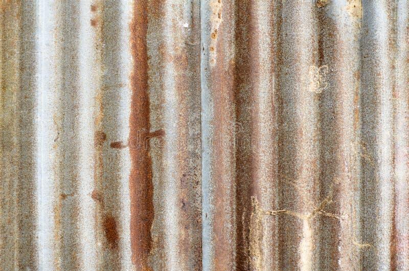 W górę ośniedziałej galwanizującej żelaznej stali zdjęcie stock