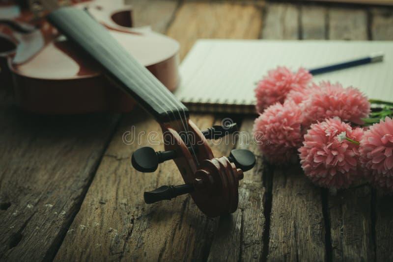 W górę strzał orkiestry skrzypcowego utwór instrumentalnego z rocznika brzmieniem przetwarzającym nad drewnianej tło wybiórki ost obraz royalty free