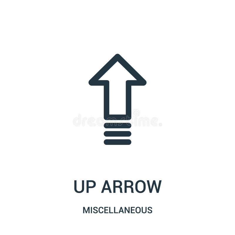 w górę strzałkowatego ikona wektoru od różnej kolekcji Cienkiego * konturu ikony wektoru strzałkowata ilustracja Liniowy symbol d ilustracja wektor