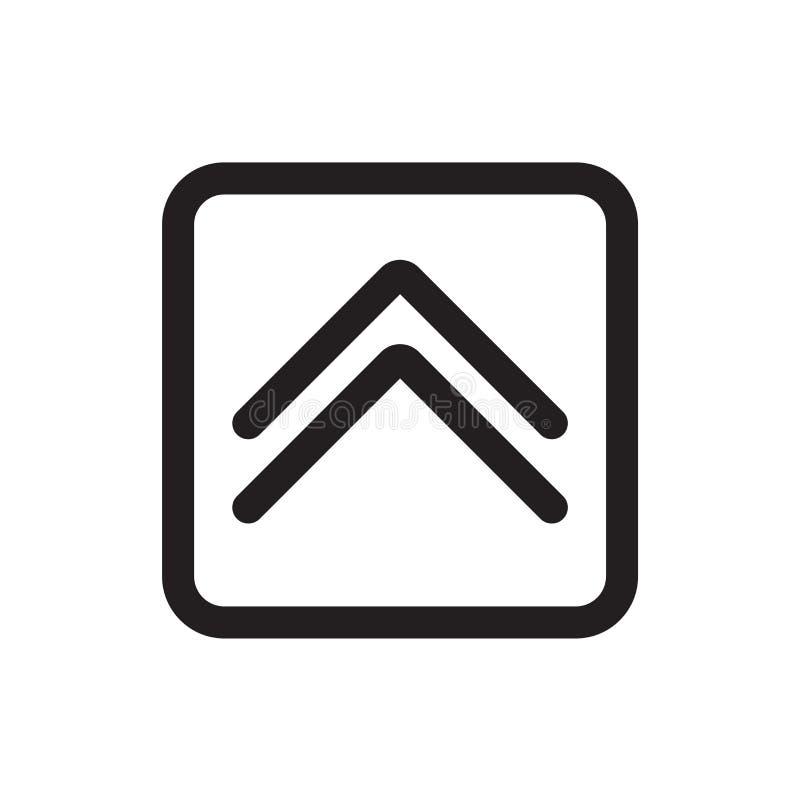 W górę strzałkowaty fałd guzik ikona wektor znak i symbol odizolowywać na whi ilustracja wektor