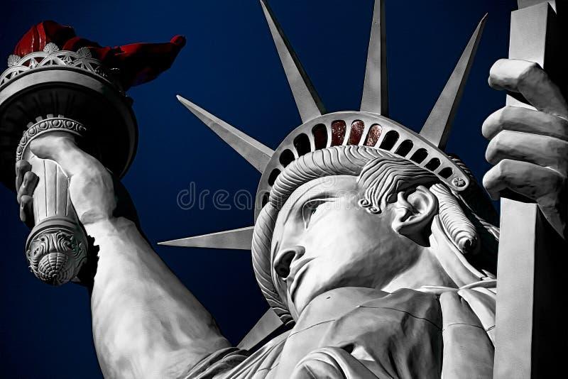 W górę strzału statua wolności obrazy stock