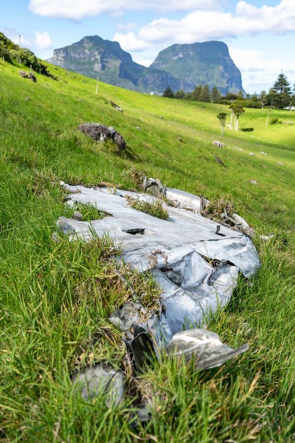 W górę strzału szczątki stary Konsolidujący PBY Catalina samolot który rozbijał na władyki Howe wyspie obrazy royalty free