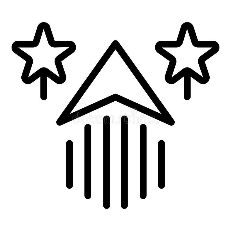 W górę strzały i gwiazd ikony, konturu styl royalty ilustracja