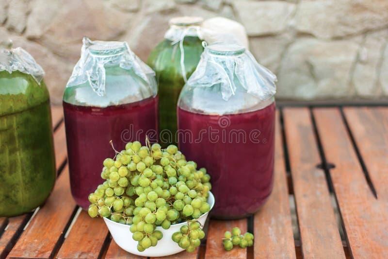 W górę wiązek żółci dojrzali winogrona od organicznie ogródu zdjęcia royalty free