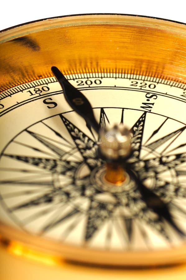 w górę widok rocznika zamknięty kompas fotografia royalty free