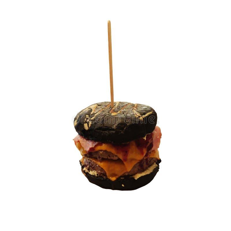 W górę widoku hamburger Wo?owina hamburger fotografia royalty free