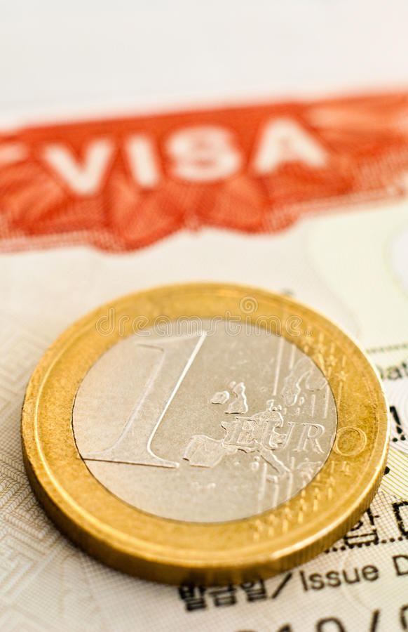 w górę wizy zamknięty euro zdjęcia stock