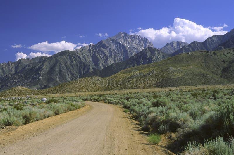 w górach sierra Nevada owens, vale zdjęcia royalty free