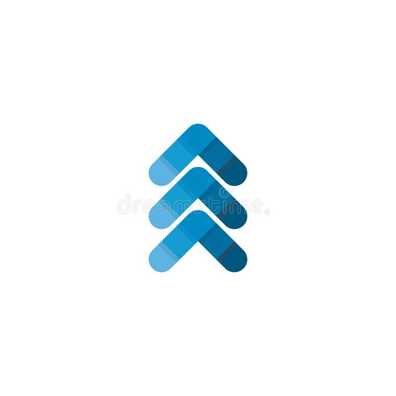 W g?r? strza?kowatego symbolu logo ilustracja wektor