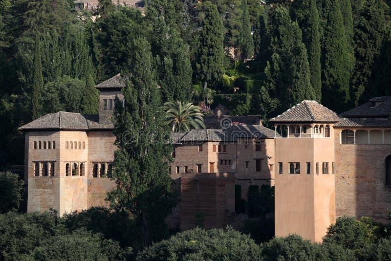 W Granada Alhambra pałac, Hiszpania zdjęcie royalty free
