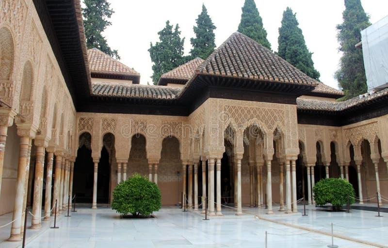 W Granada Alhambra Pałac, Hiszpania fotografia stock