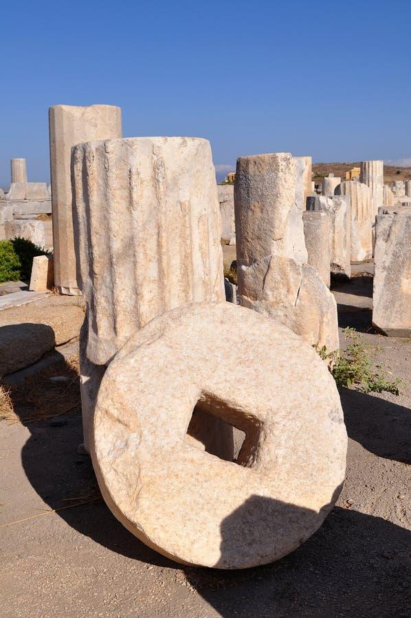 W Grecja Delos wyspa. zdjęcia royalty free