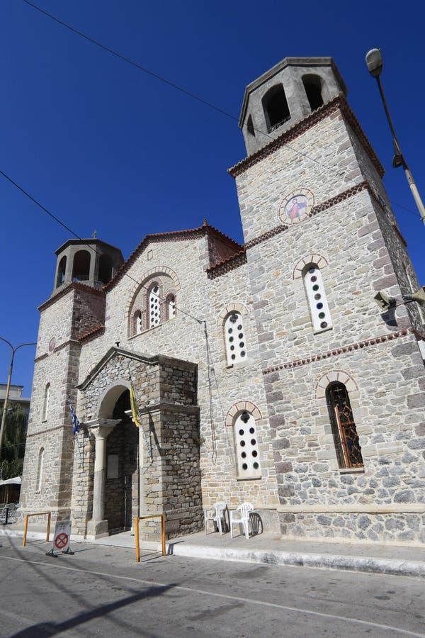 W Grecja Ortodoksalny Kościół Zdjęcie Royalty Free