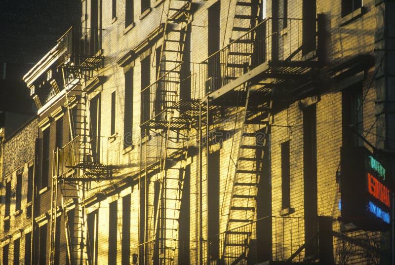W Greenwich Village pożarnicze ucieczki fotografia stock